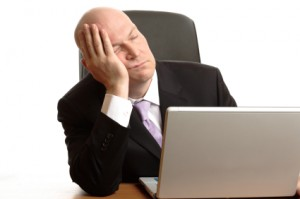 Businessman Sleeping at work